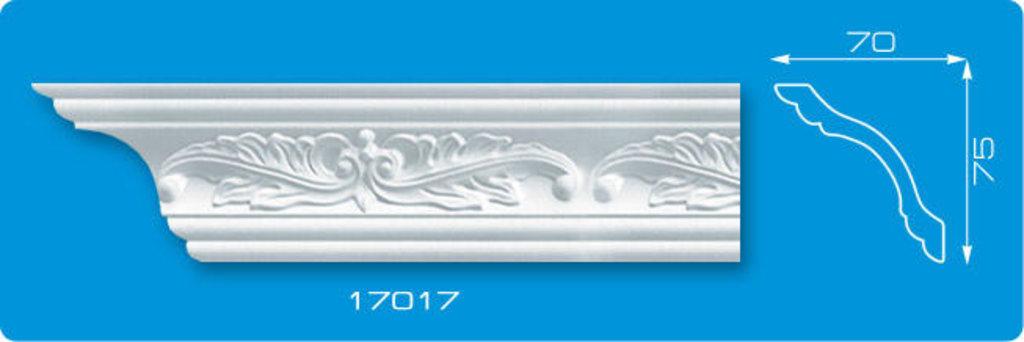 Плинтуса потолочные: Плинтус потолочный ФОРМАТ 17017 инжекционный длина 1,3м, широкий в Мир Потолков