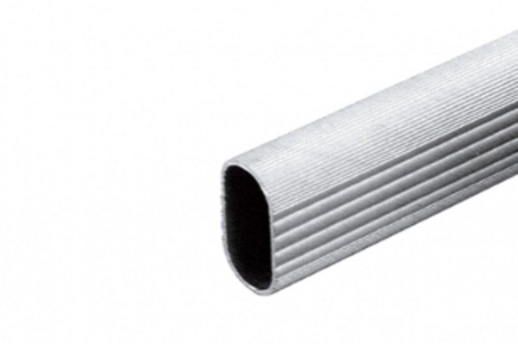 Аксессуары для шкафов: Штанга для шкафа 15х30, L=4000мм, отделка рифлёный алюминий в МебельСтрой