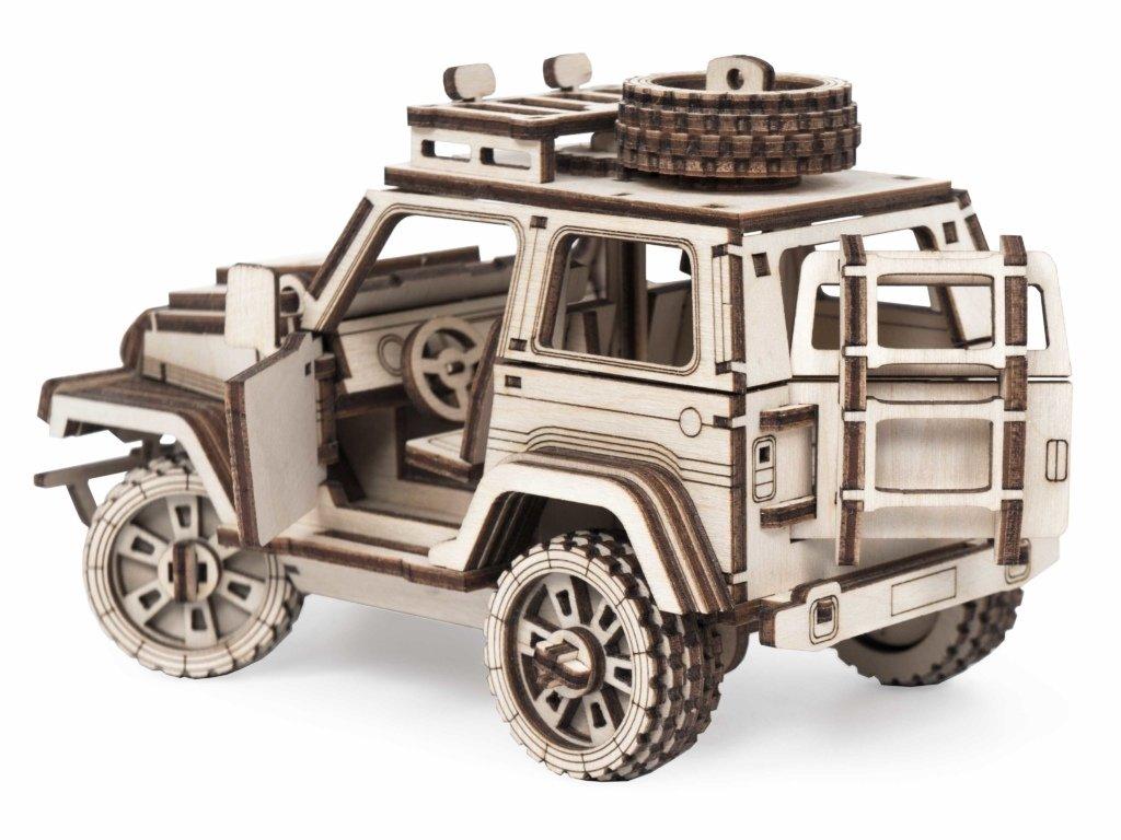 Конструкторы Леммо деревянные модели с движущимися деталями.: Новинка! Конструктор деревянный с подвижными деталями. Внедорожник «Трикс» в Игрушки Сити