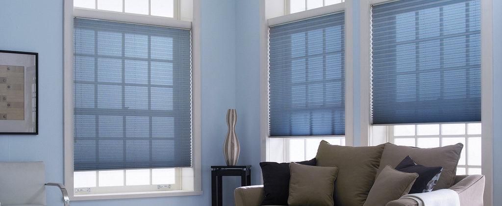 Шторы плиссе: Шторы плиссе со шнуром управления на вертикальные окна (до 15°) в Салон штор, Виссон