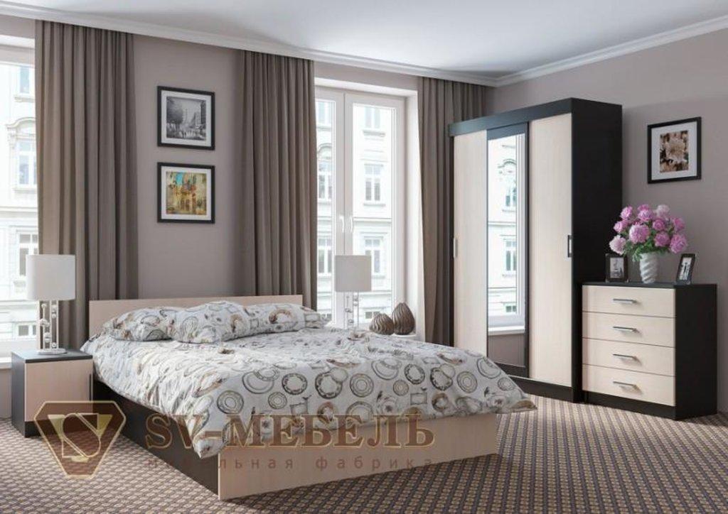 Мебель для спальни Эдем-5: Кровать двойная (Без матраца 1,4*2,0; 1,6*2,0) Эдем-5 в Диван Плюс