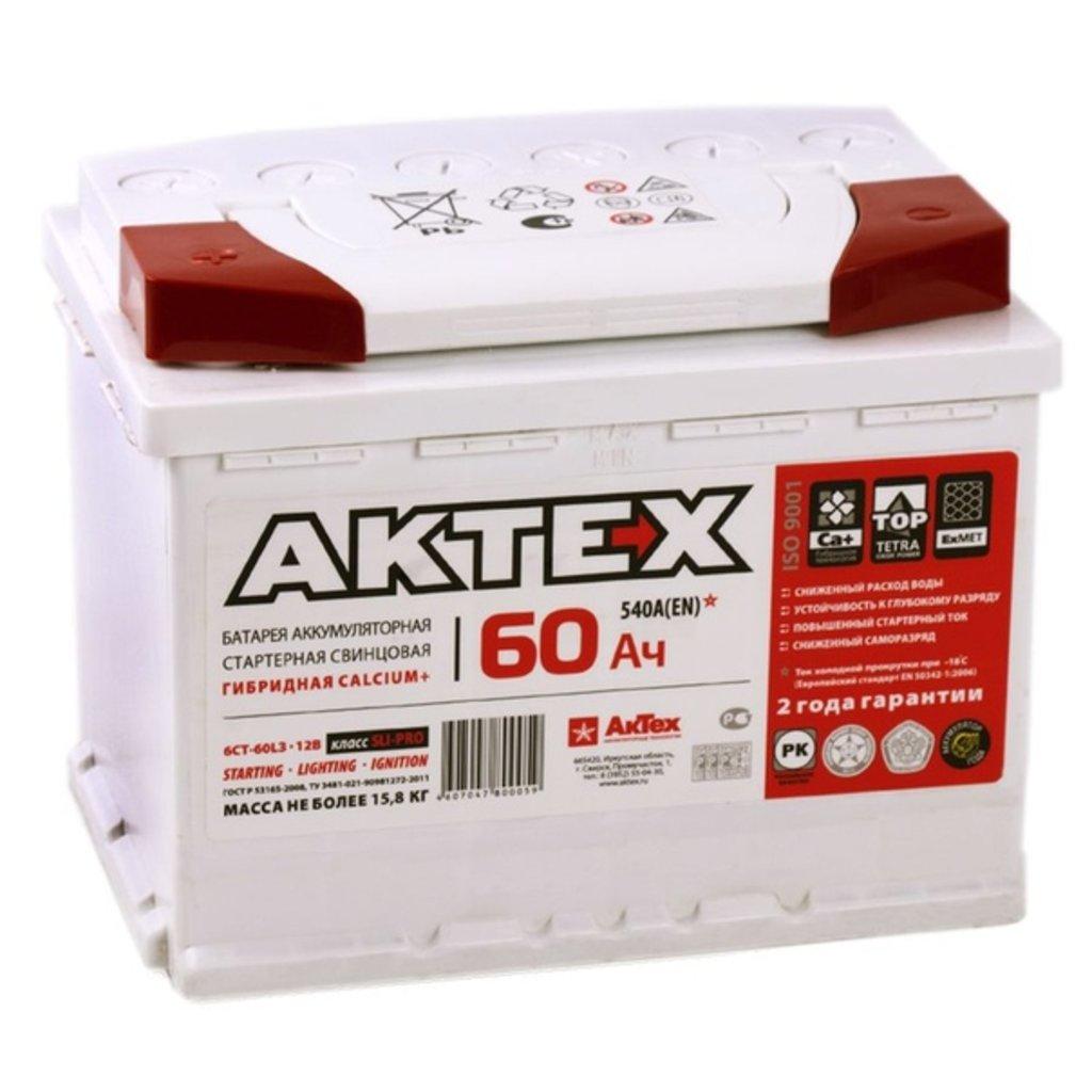 АКТЕХ: Аккумулятор AKTEX 6 СТ- 60 в БазаАКБ
