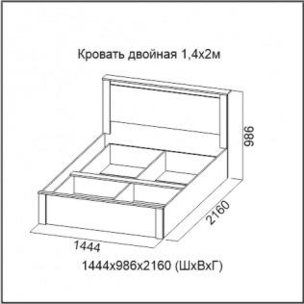 Мебель для спальни Гамма-20: Кровать двойная 1,4*2,0 Гамма-20 в Диван Плюс