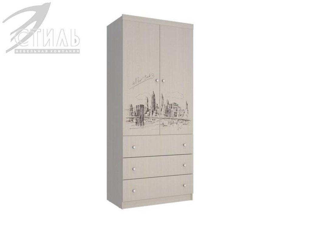 Мебель для детской Мийа - 3 (дуб молочный, фотопечать): Шкаф с ящиками ШЯ-308 Мийя - 3 в Диван Плюс