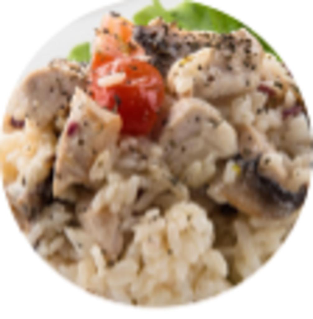 Горячие блюда: Ризотто с грибами в Обеды в офис Красноярск