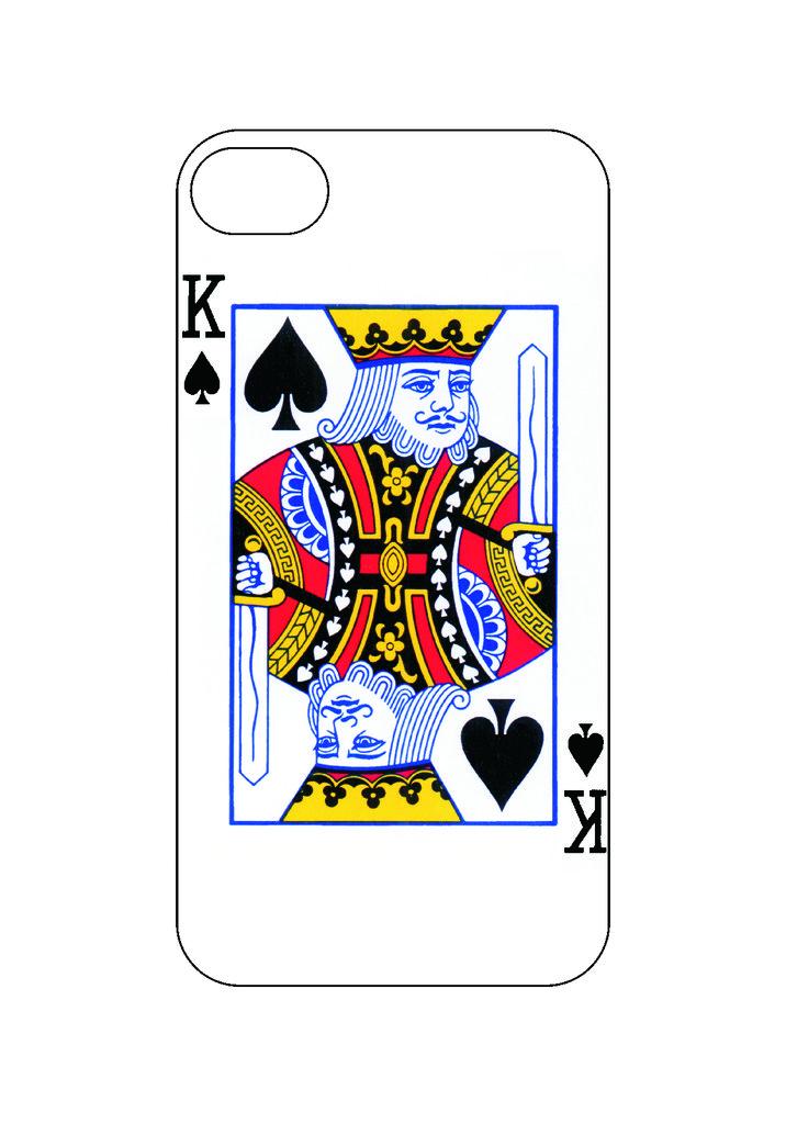 Выбери готовый дизайн для своей модели телефона: Король в NeoPlastic