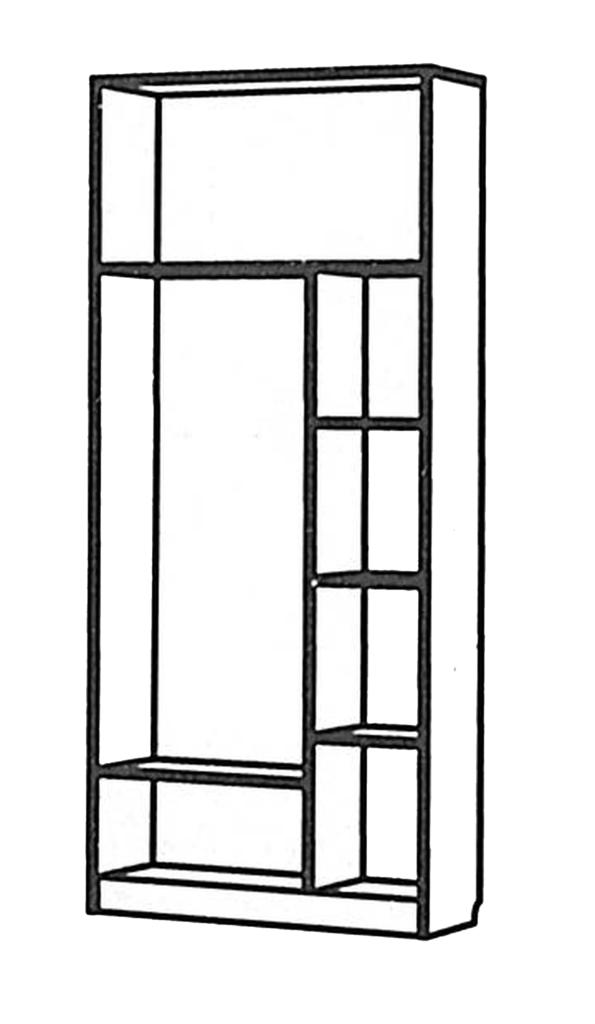 Детские шкафы и стеллажи: Шкаф с антресолью Денди Звёздочка МДФ в Стильная мебель