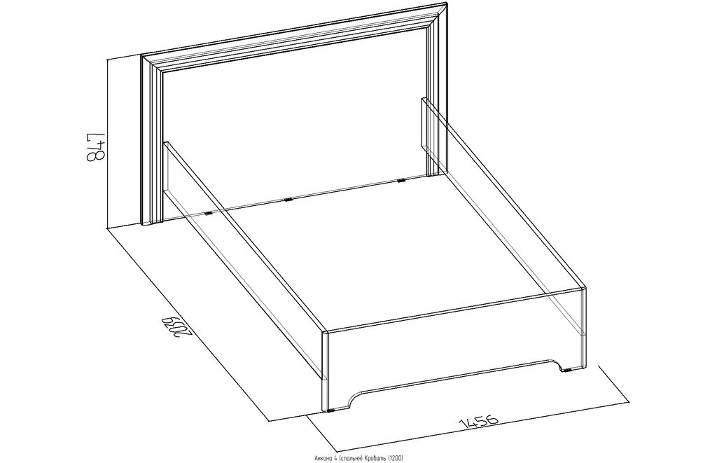 Кровати: Кровать (1200) Анкона 4 в Стильная мебель