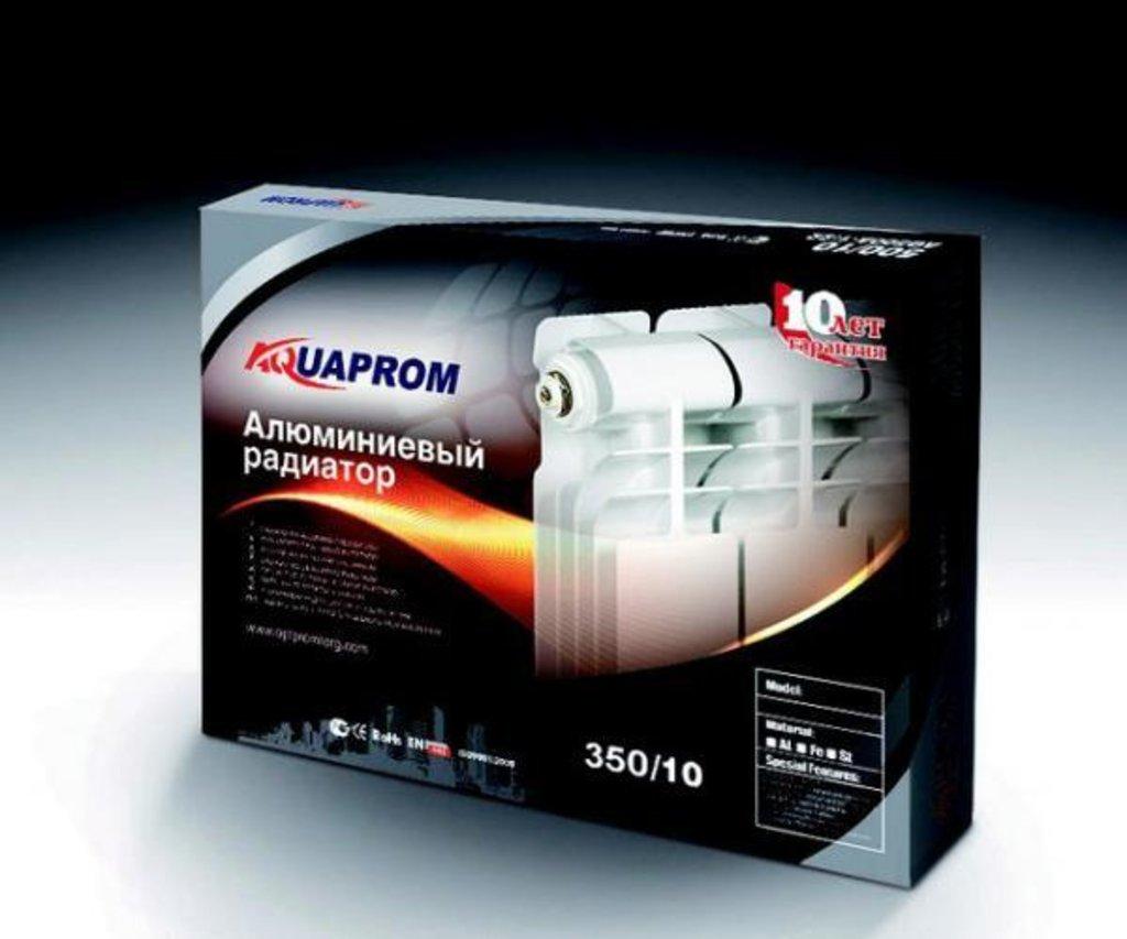 Радиаторы алюминиевые (батареи): 500/80 Радиатор алюм AQUAPROM (AQ-500A-V8) черн/упак в Сантехресурс
