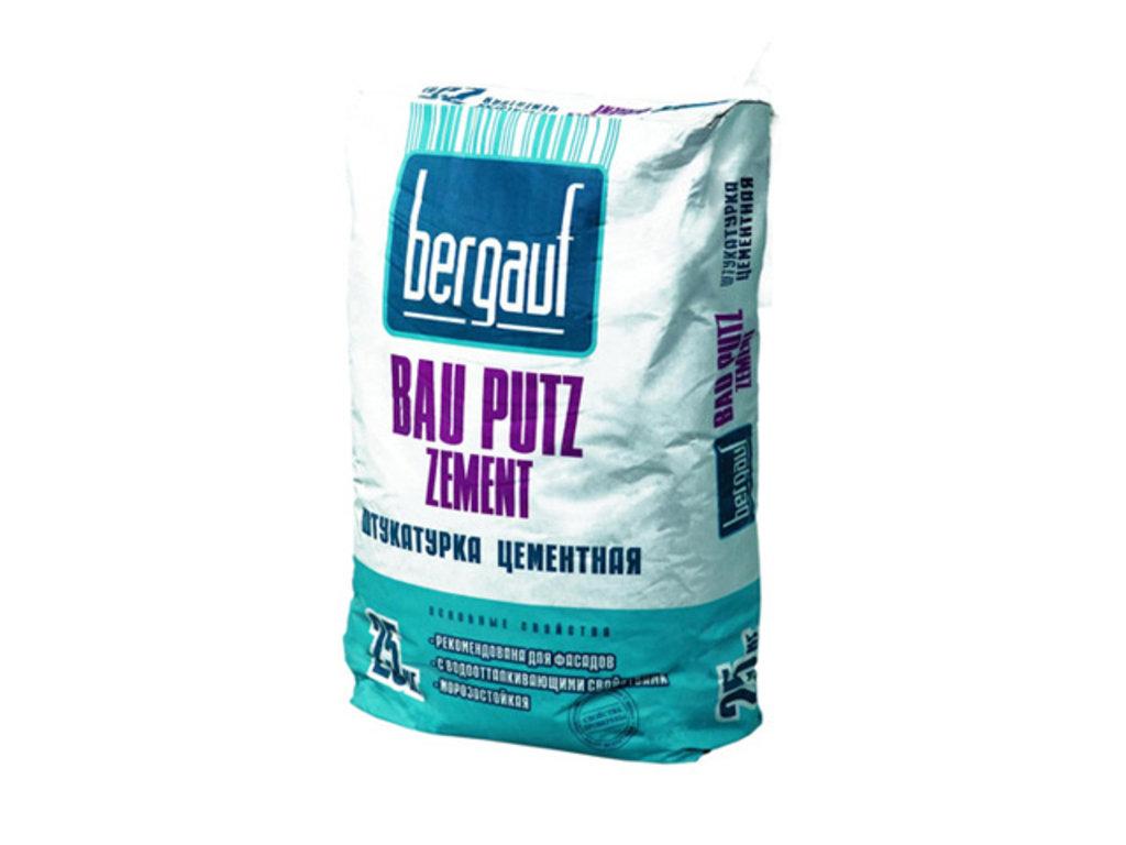 Сухие смеси Бергауф: Штукатурка фасадная 25 кг Bau Putz Zement Bergauf в База строительных материалов ЯИК