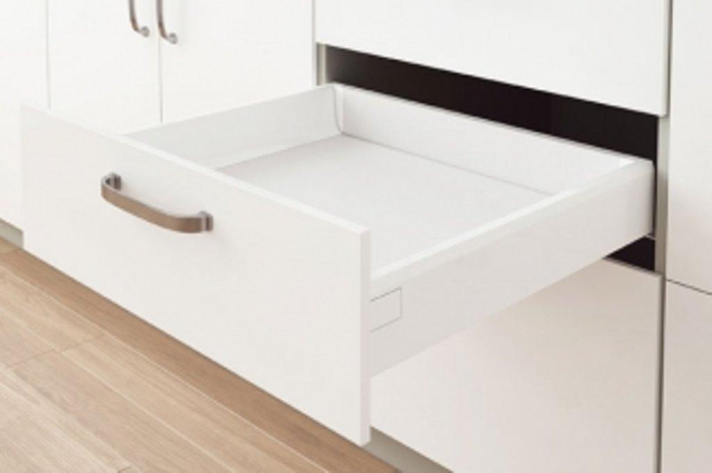 Наборы ящиков TEN: Набор ящика TEN H=90, L=450, отделка белая в МебельСтрой