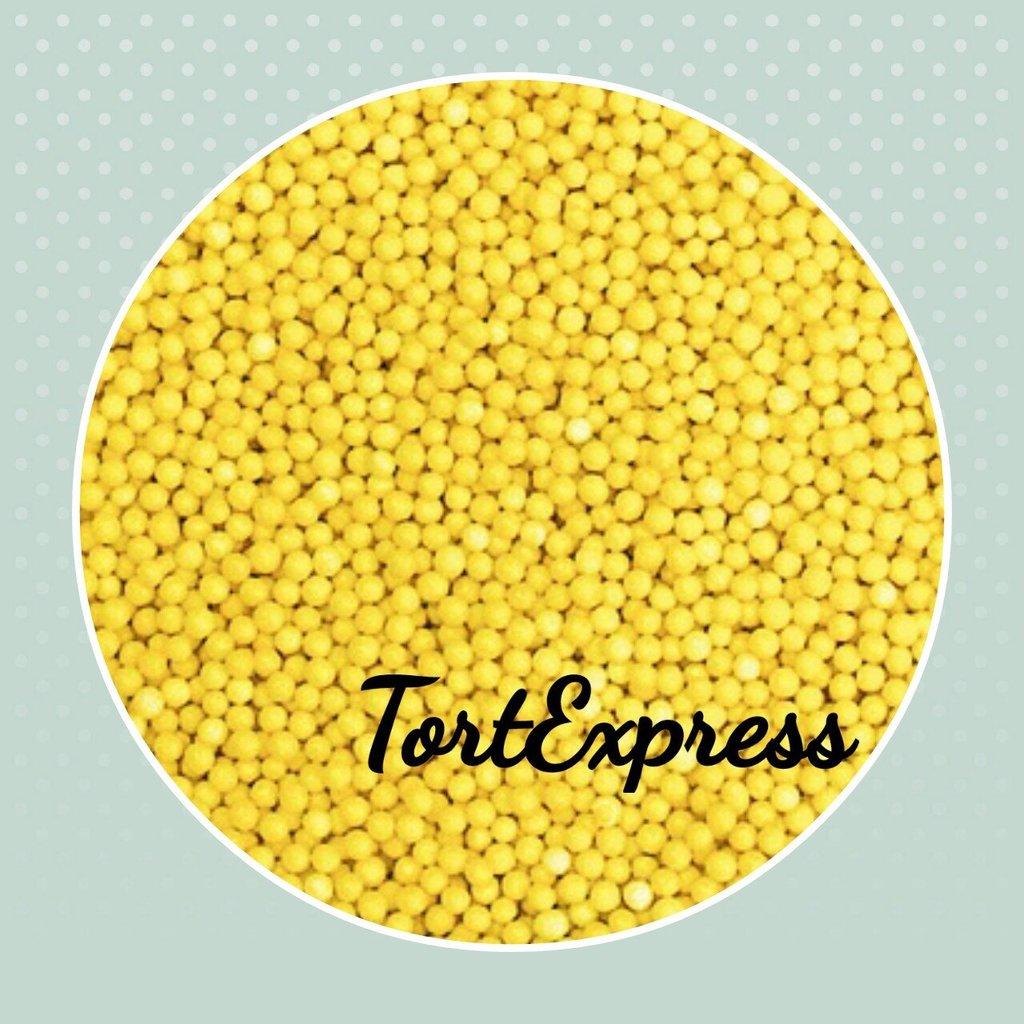 Посыпки декоративные: Шарики желтые 2 мм в ТортExpress