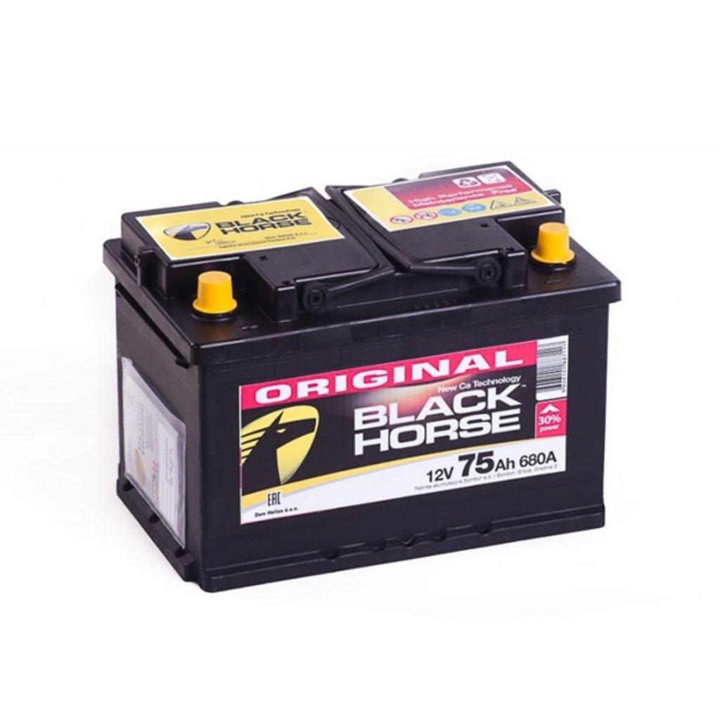 BLACK HORSE: Аккумулятор BLACK HORSE 6CT - 75 в БазаАКБ