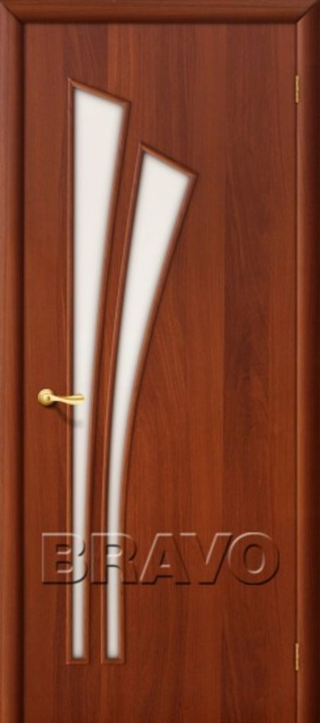Двери ламинированные BRAVO: 4С Л-11 (ИталОрех) в STEKLOMASTER