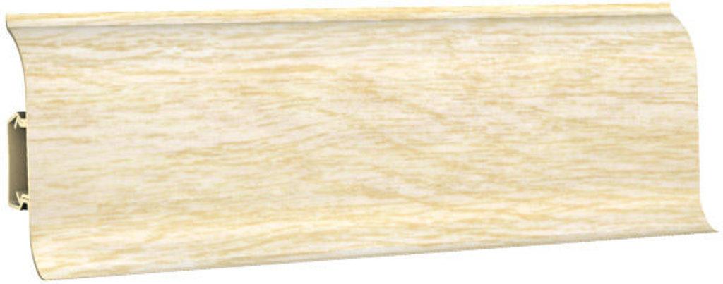 Плинтуса напольные: Плинтус напольный 60 ДП МК полуматовый 6051 дуб светлый в Мир Потолков