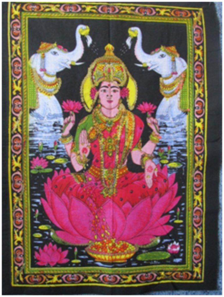 """Постеры: Постер """"Богиня Лакшми"""" в Шамбала, индийская лавка"""