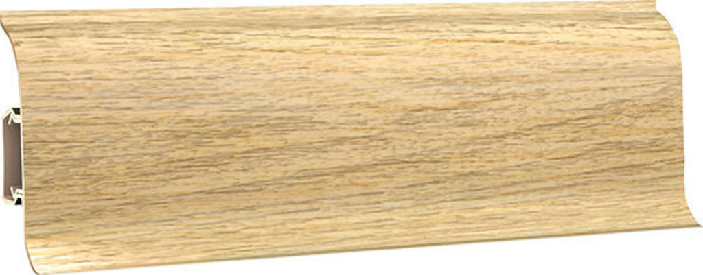 Плинтуса напольные: Плинтус напольный 60 ДП МК полуматовый 6079 дуб шампань в Мир Потолков