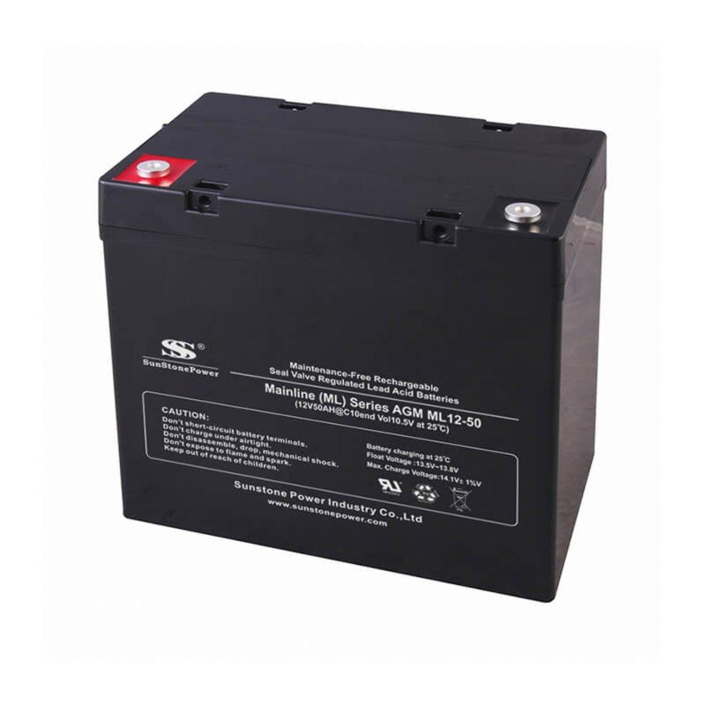 AGM: Аккумулятор SunStonePower ML12-50 в Горизонт