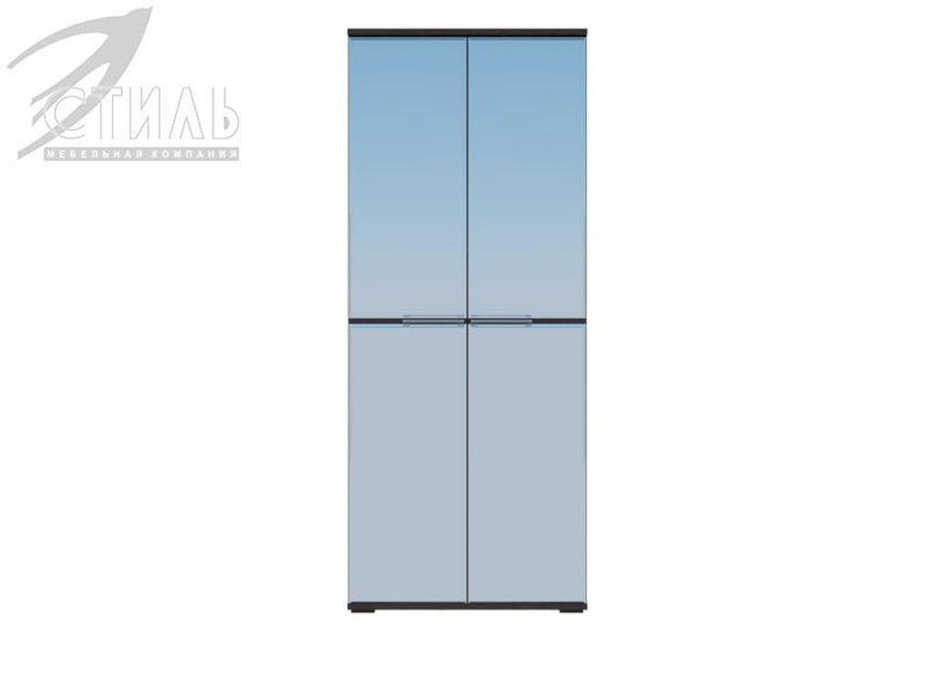 Мебель для спальни Луиза (венге / черный глянец): Шкаф двухстворчатый Луиза (венге / черный глянец) в Диван Плюс