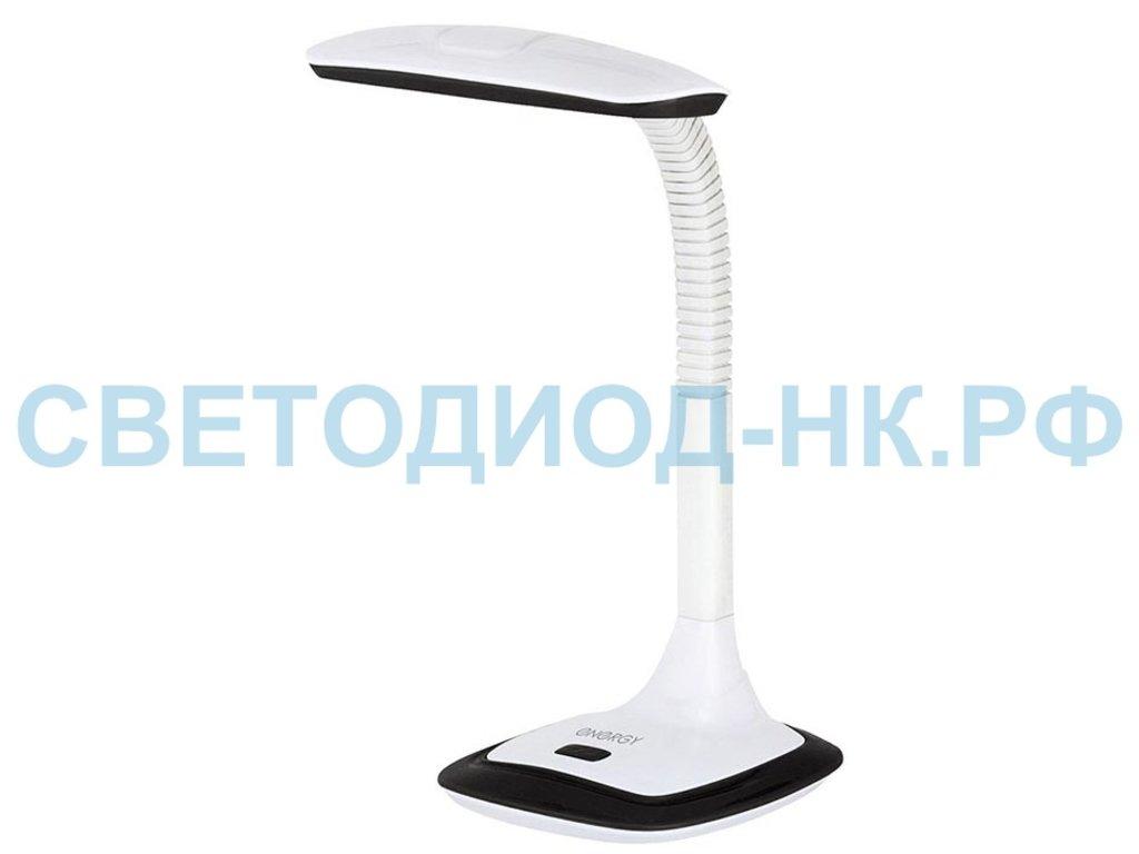 Настольные лампы, ночники: Лампа настольная Energy EN-LED18 бело-черная в СВЕТОВОД