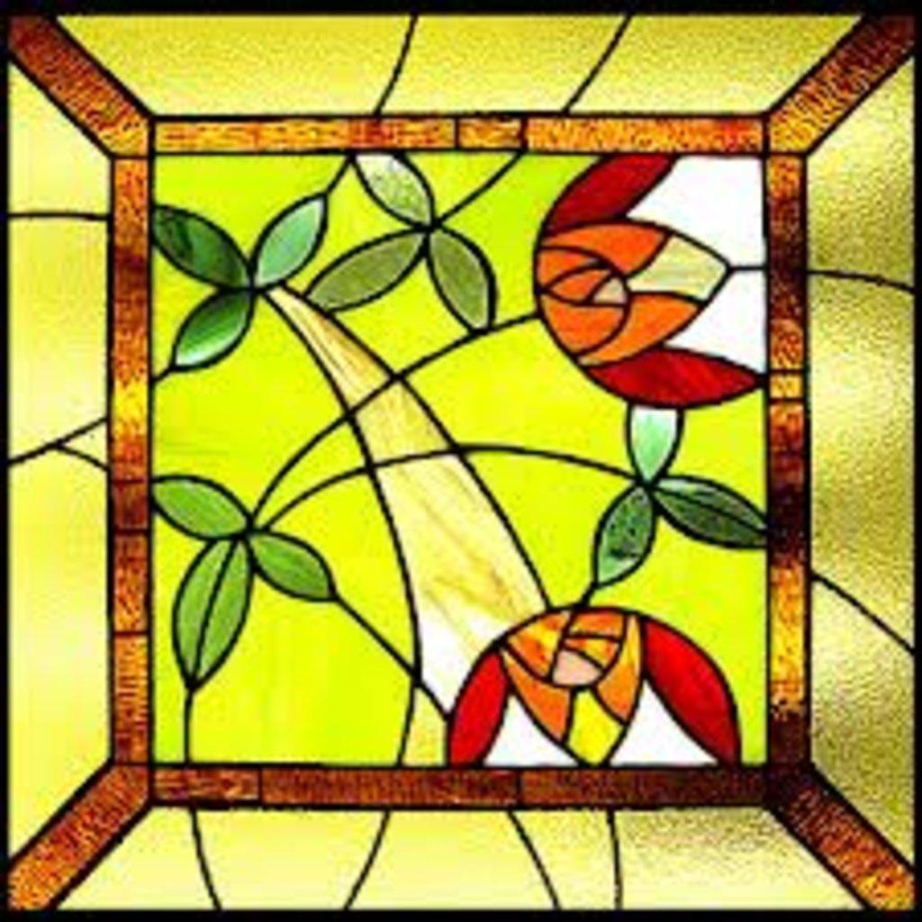Стекла, зеркала, витражи: Витраж накладной в Дом стекла и зеркала
