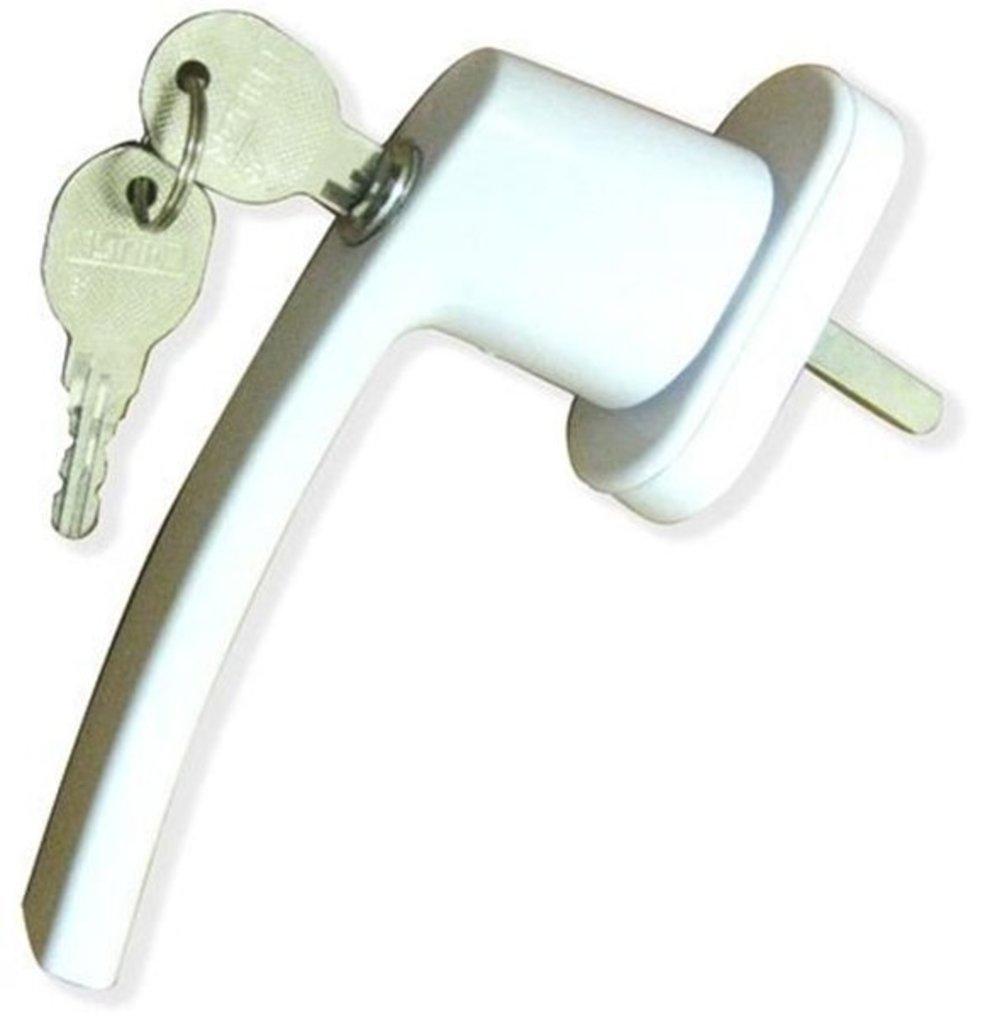 Комплектующие для окон и дверей пвх: Ручка с замком в Балкон-Уют