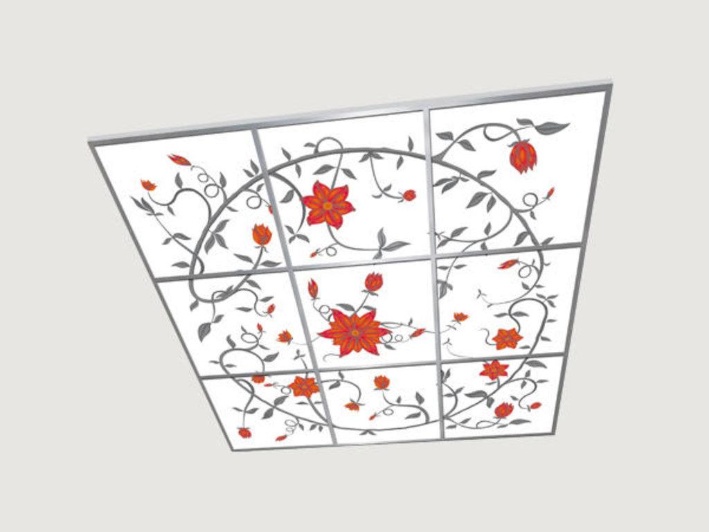Витражные (стеклянные) потолки: Серия «Карамель» в Мир Потолков