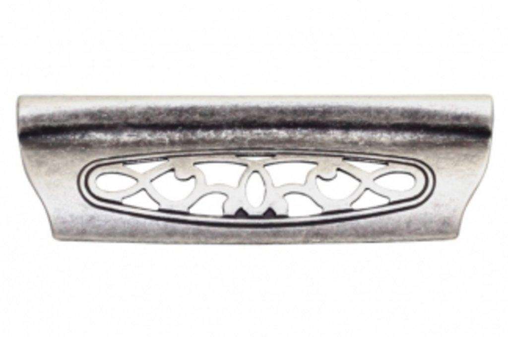 Коллекция КЛАССИКА: Ручка-скоба 96мм, отделка серебро античное в МебельСтрой