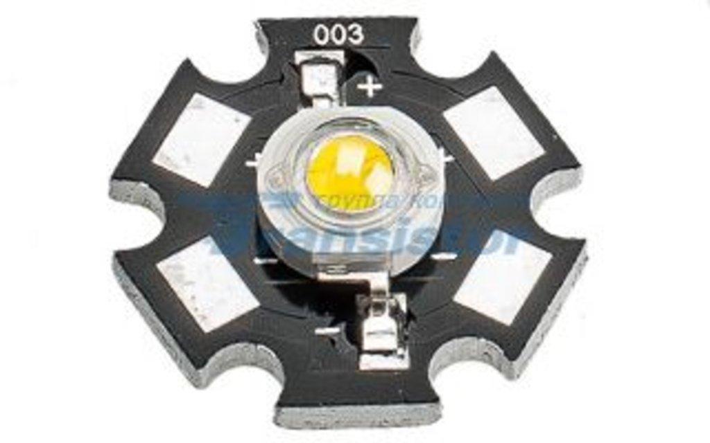 Светодиоды, светодиодные матрицы, термопаста: Мощный светодиод ARPL-Star-1W-EPS White (13W1) в СВЕТОВОД