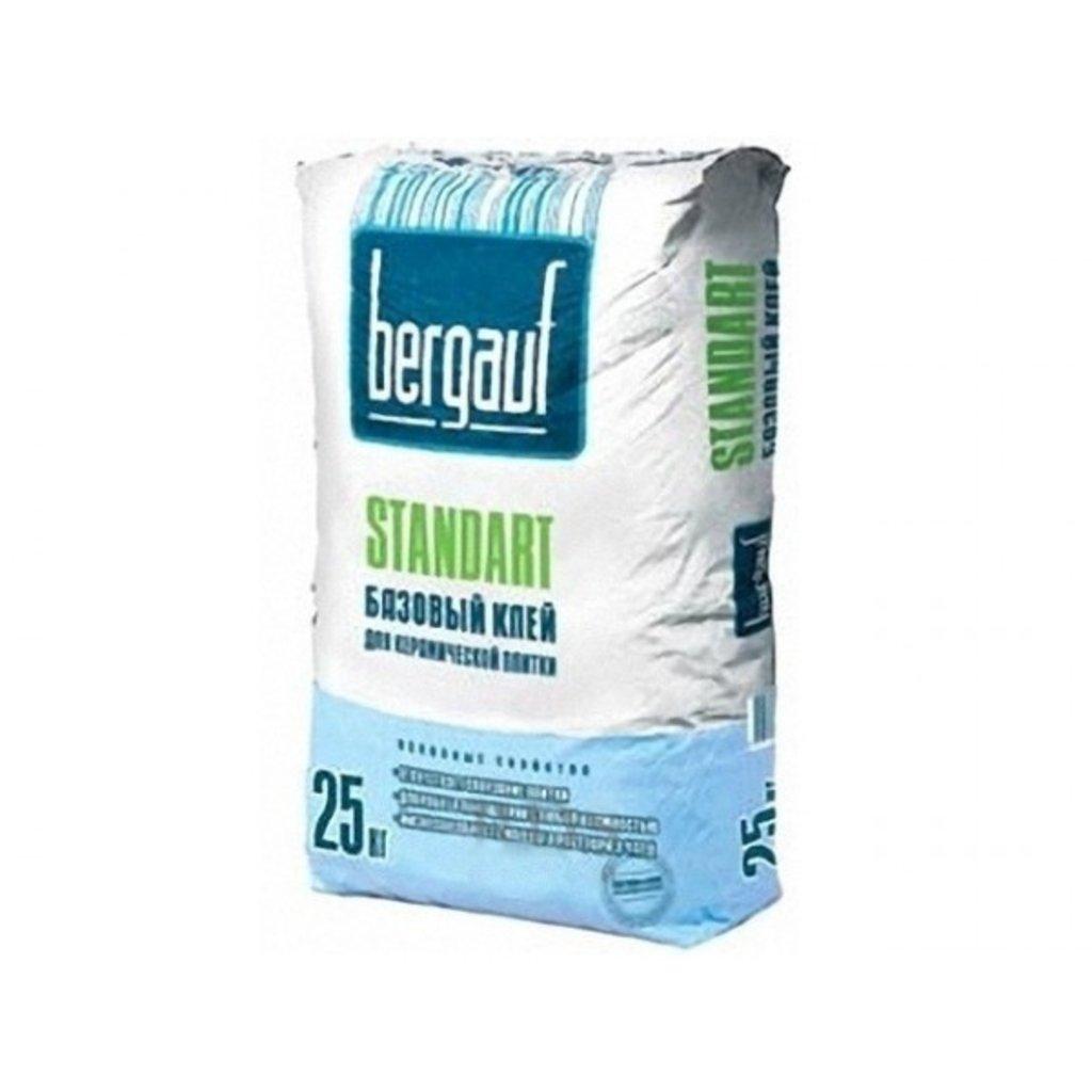 Сухие смеси Бергауф: Клей для керамической и кафель.плитки 25кгStandart в База строительных материалов ЯИК