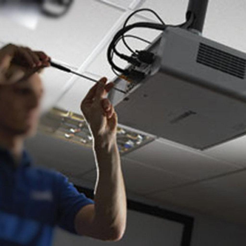 Ремонт, обслуживание, установка аудио-, видео-, фото- бытовой техники: МОНТАЖ (УСТАНОВКА) ПРОЕКТОРА в Антенн-Сервис