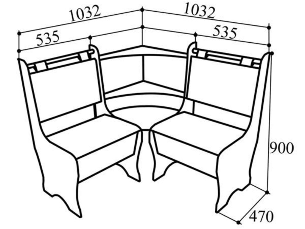 Кухонные уголки: Кухонный уголок КУ-40м в Уютный дом