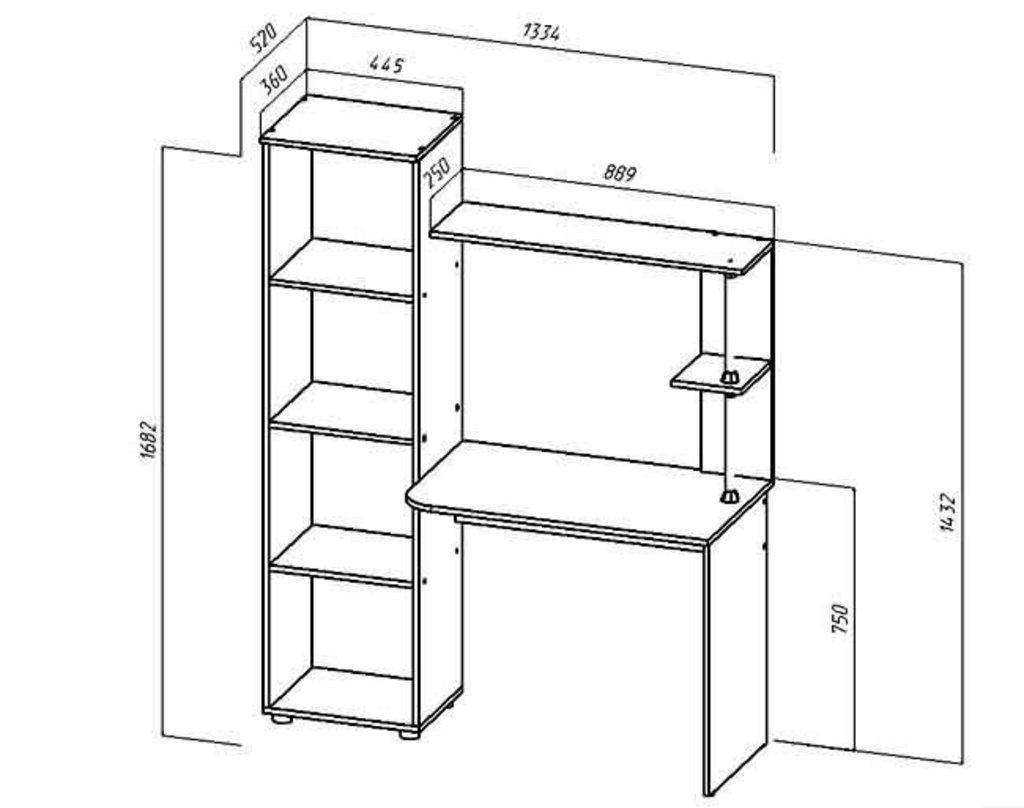 Столы компьютерные: Стол компьютерный Юниор-1 в Уютный дом