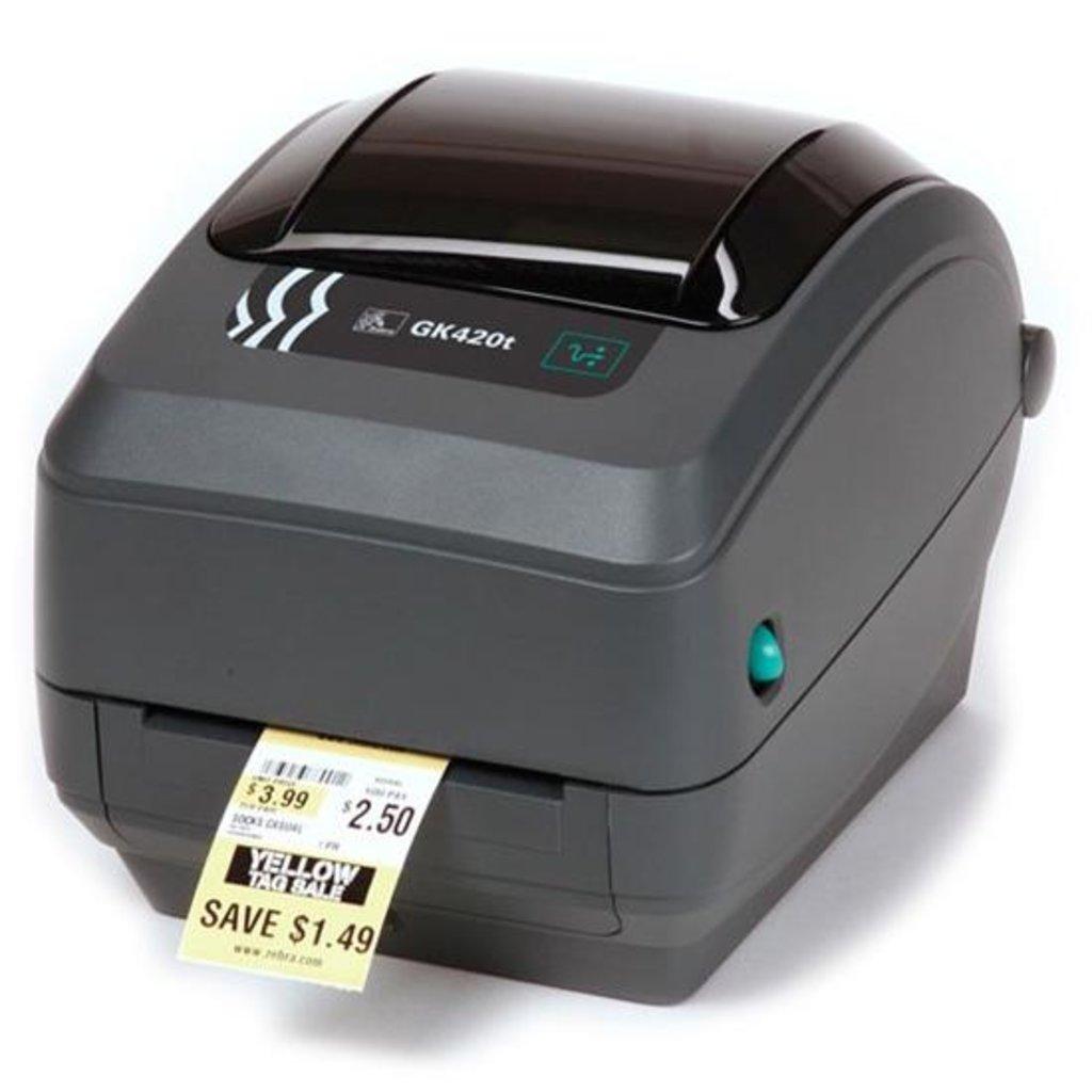 Принтеры этикеток: Принтер штрих-этикеток Zebra GK420t (203 dpi, RS232, USB) в Рост-Касс