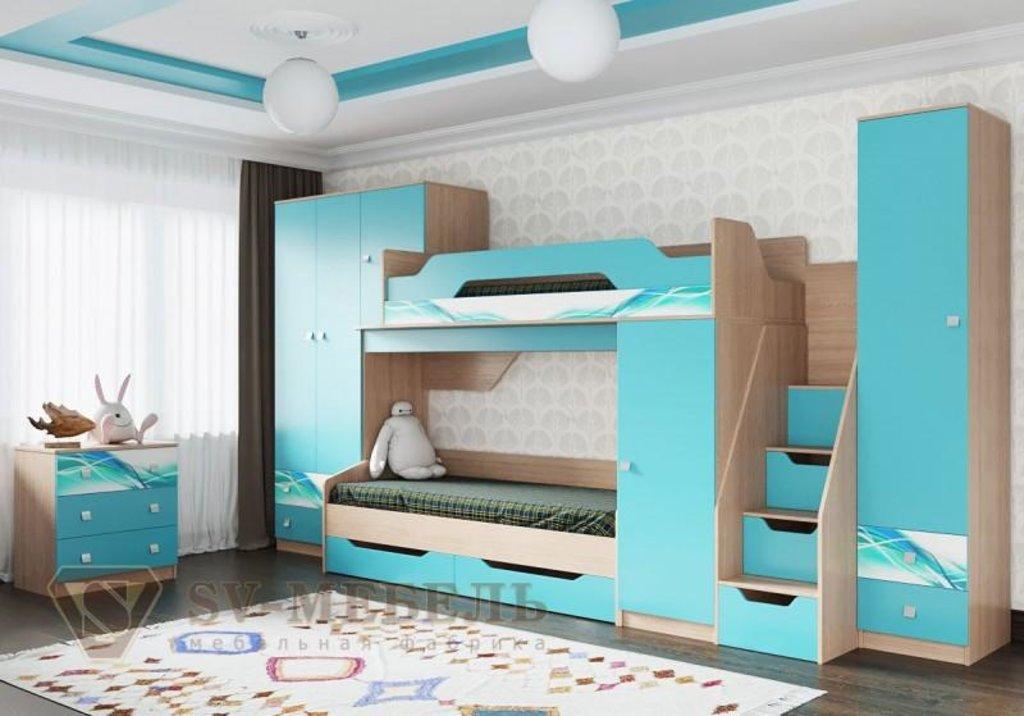 Мебель для детской Сити 1: Кровать одинарная с ящиками (без матраца 0,8*2,0) Сити 1 в Диван Плюс