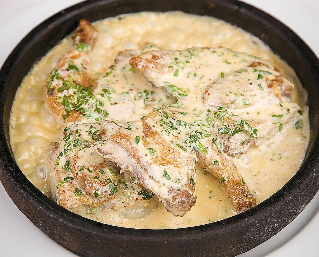 Цыпленок табака: Чкмерули с орехами в Березка