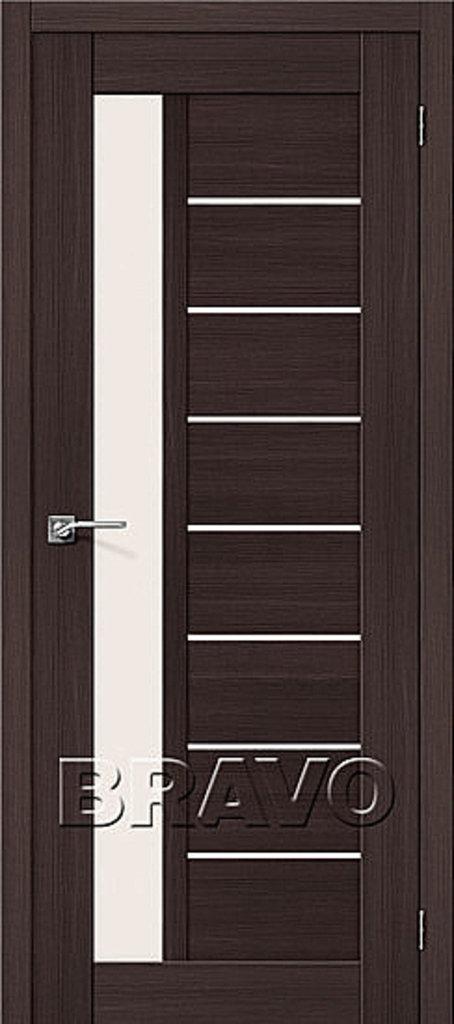 Двери экошпон BRAVO: Порта-27 Wenge Veralinga в STEKLOMASTER