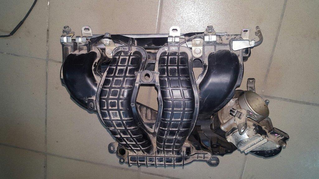 Впускные коллекторы: Впускной коллектор Lancer X + топливная рампа + форсунки + дроссельная заслонка в VINcode