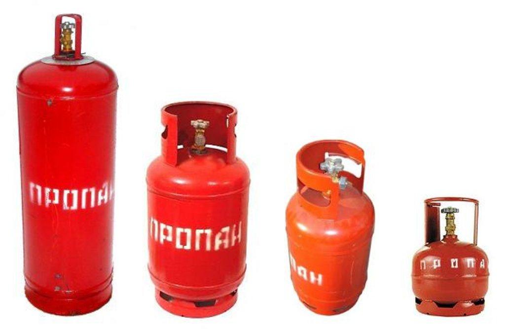Газовое оборудование, комплектующие: Баллон газовый 12л в Газсантехоборудование