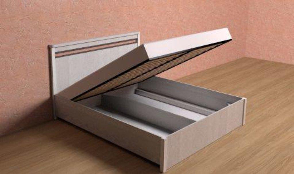 Кровати: Кровать с подъемным механизмом (1600) БРИЗ 32.2 в Стильная мебель