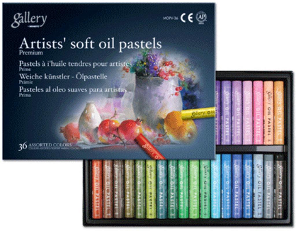 Пастель: Пастель Gallery soft oil pastels, 36 цветов в Палитра