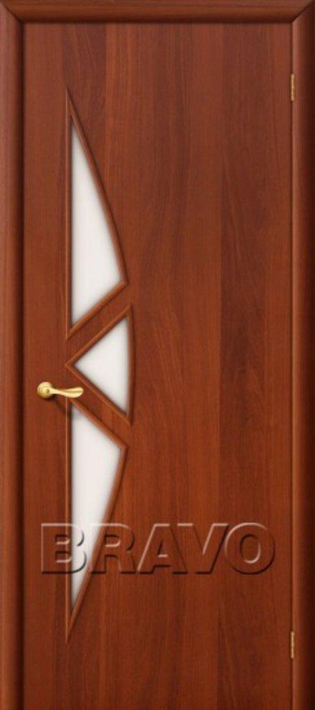 Двери ламинированные BRAVO: 15С Л-11 (ИталОрех) в STEKLOMASTER