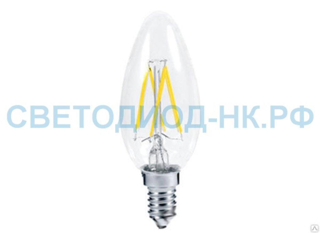 Цоколь Е14: LED-СВЕЧА-deco 5Вт 230В  Е14 4000К 450Лм прозрачная IN HOMЕ в СВЕТОВОД