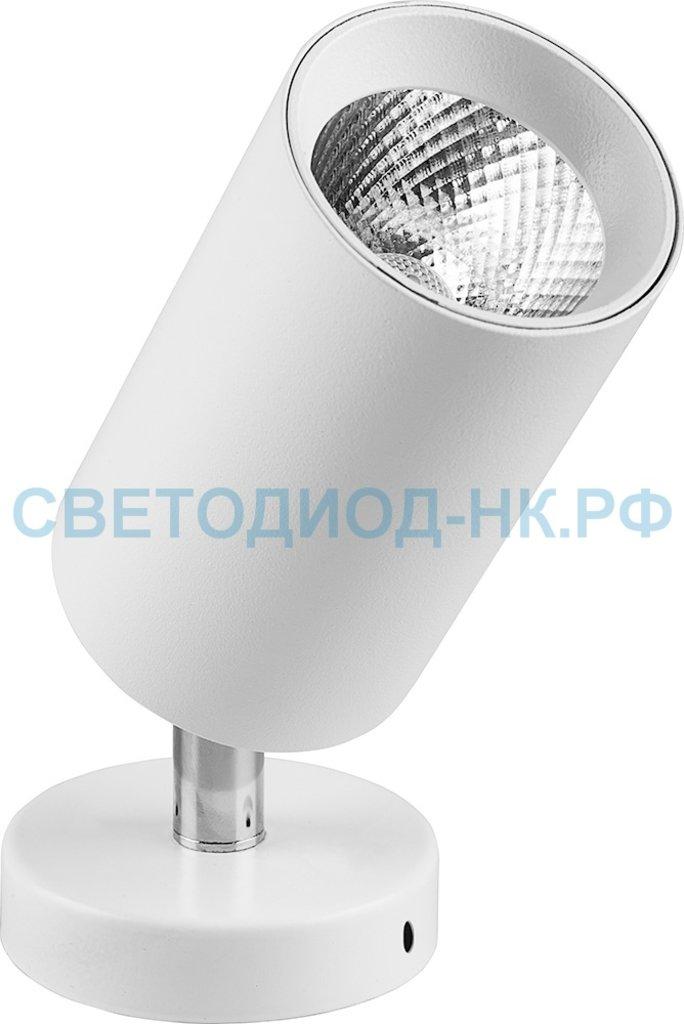 Накладные поворотные светильники: AL519, 10W, 800Lm, 4000K, белый, наклонный в СВЕТОВОД