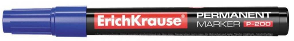 Канцтовары: Маркер перманентный Erich Krause 0,8-2,2 мм., синий в ОргСервис+