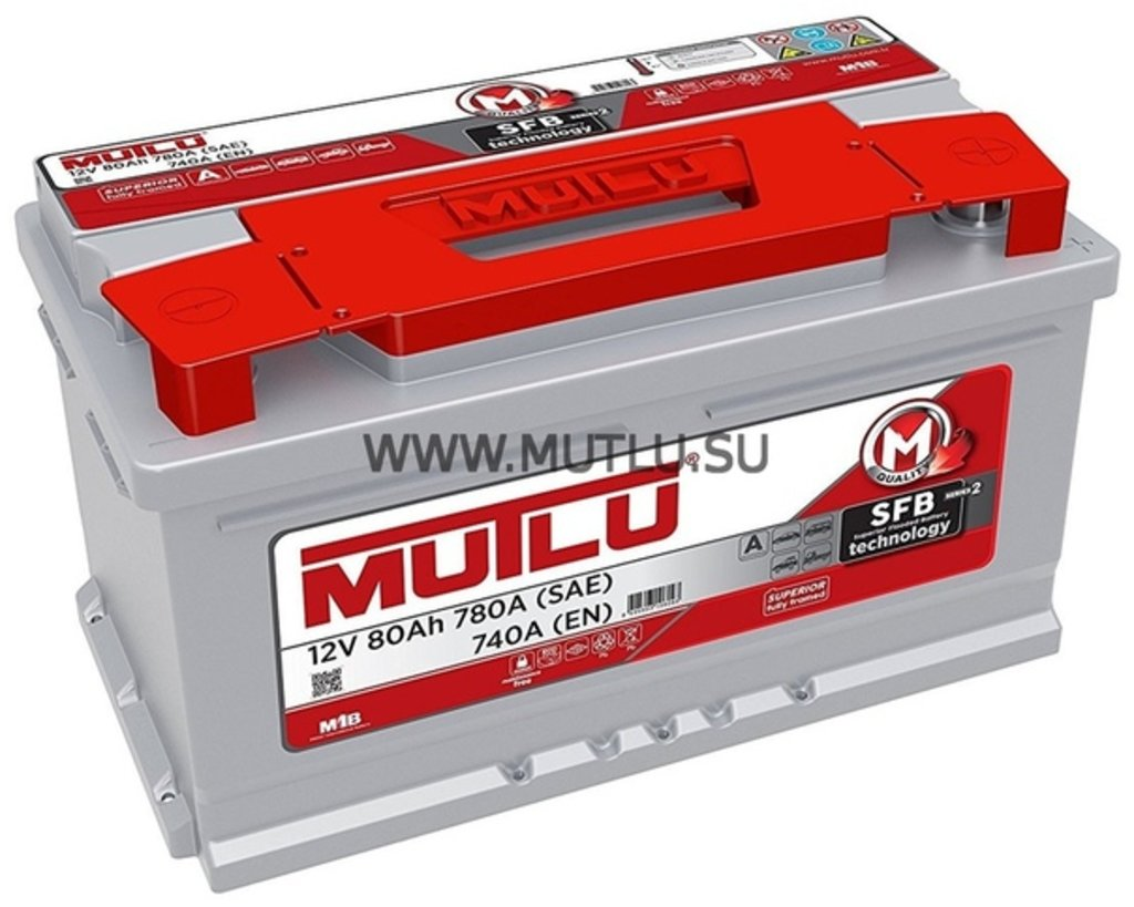 MUTLU: Аккумулятор MUTLU 6CT - 80 в БазаАКБ