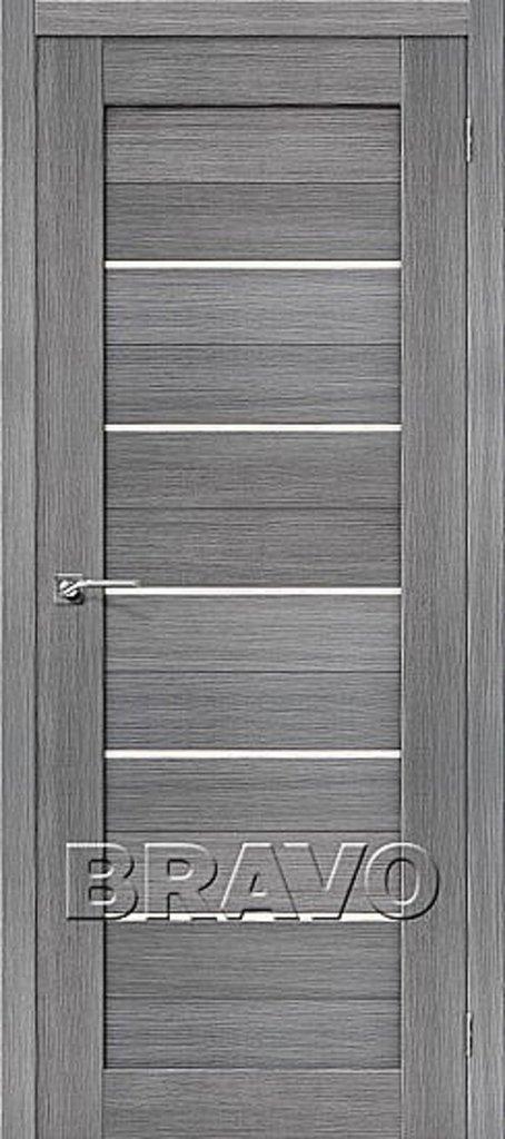 Двери экошпон BRAVO: Порта-22 Grey Veralinga в STEKLOMASTER