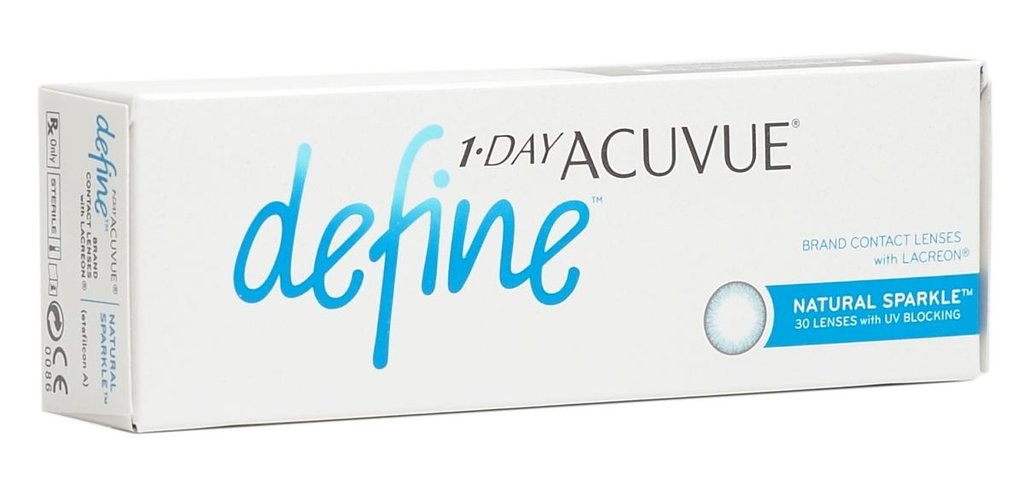 Контактные линзы: Контактные линзы 1-Day Acuvue Define With Lacreon Sparkle (30шт / 8.5) Johnson & Johnson в Лорнет