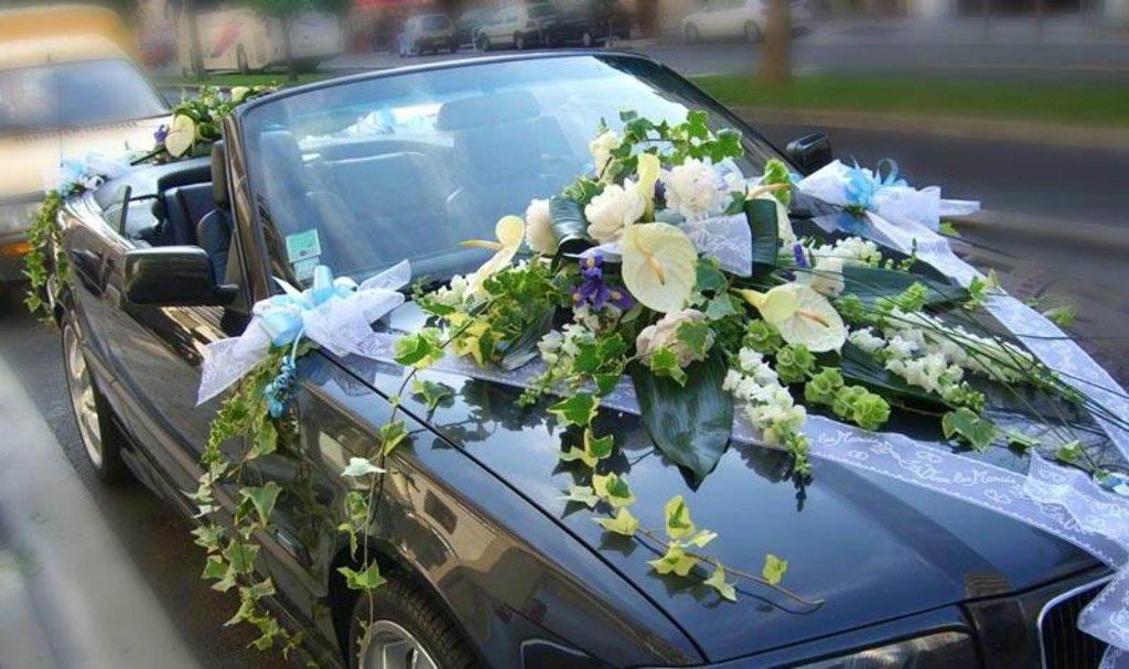 Украшения для свадебных машин: Свадебное оформление автомобиля в Lilies