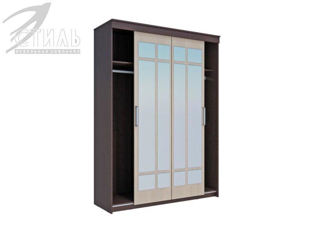 Шкафы: Шкаф-купе Комфорт-6(Б) (Венге / Дуб молочный) в Диван Плюс